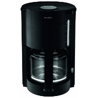 Schwarze Filterkaffeemaschine mit Glaskanne von Krups F30908 ProAroma im Test