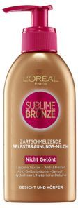 L'Oreal Paris Selbstbräuner Sublime Bronze Selbstbräunungsmilch, 150 ml