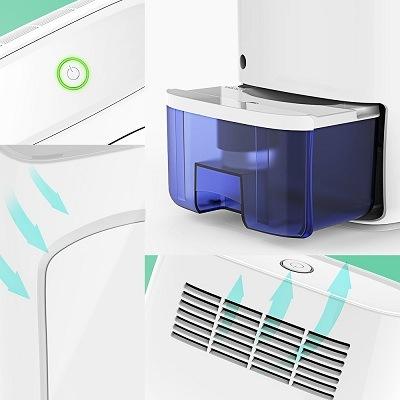 Die Wasserbehältergröße im Luftentfeuchter hysure Test