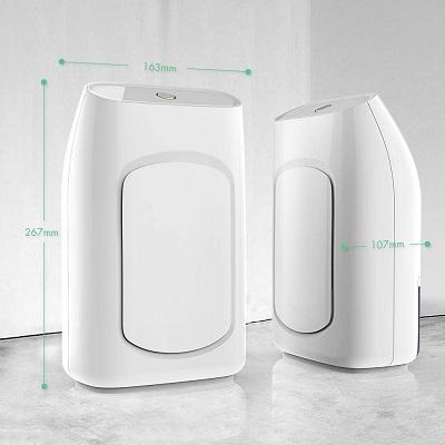 Der Luftentfeuchter von hysure im Wohnzimmer Test