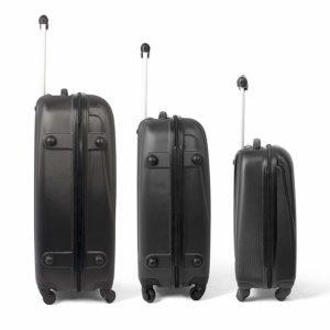 MasterGear Hartschalenkoffer Set aus ABS mit Reißverschluss 3 Koffer Set