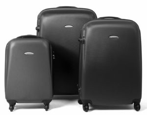 MasterGear Hartschalenkoffer Set aus ABS mit Reißverschluss