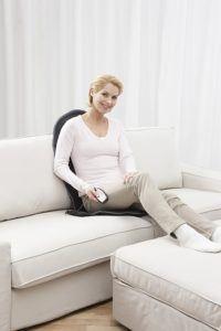 Sitzheizung in schwarz mit Heizung und Massage