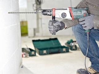 Der Bohrhammer von Metabo ist ideal zum Hammerbohren, effektiv im Bohren ohne Schlag in zwei Gängen & Meißeln Test