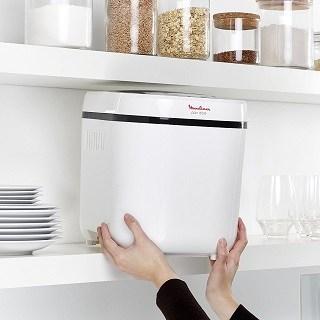 Der Moulinex Brotbackautomat ist sehr kompakt im Test