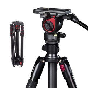 Professionelles Aluminium Tragbares T Kamera Video Reisestativ mit hydraulischer Kopf im Test von Expertentesten