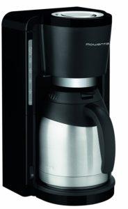 Frontansicht der Filterkaffeemaschine mit Thermokanne von Rowenta CT 3818 im Test