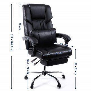 Der 6955880317257 Chefsessel hat ein ergonomisches Design Test