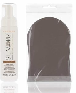 St Moriz Professional Self Tanning Mousse Medium 200ml mit Zubehör (Medium Mousse + Applikator)