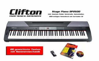Das Stage Piano DP 2600 von Clifton im test und vergleich