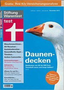 Stiftung Warentest - Daunendecken
