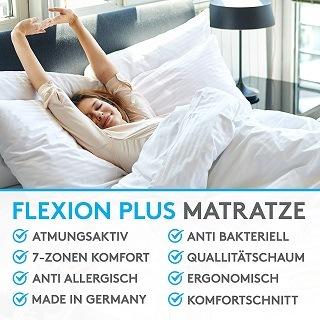 Die punktelastische Matratze bietet allen Körperregionen eine angenehme Auflage und komfortable Unterstützung TEst