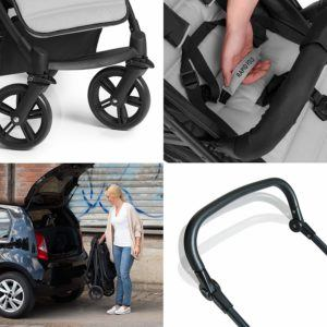 Hauck 10-teiliges Kinderwagen Set 3in1 - Rapid 4 Plus Trio Set, Funktionen im Test
