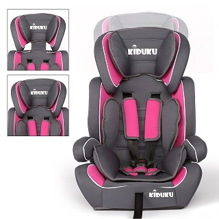 Der sportliche KIDUKU Auto-Kindersitz ist ausgestattet mit einem 5-Punkt-Gurt, der sich individuell auf die Körpergröße Ihres Kindes einstellen lässt Test