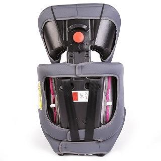 Dieser Kindersitz versteht sich als mitwachsender Kindersitz, der sich mit seiner Schalensitzform (für sicheren Seitenhalt) am Motorsport orientiert Test