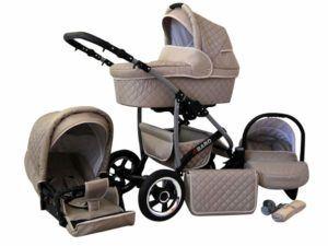 Kinderwagen mit Autositz & Adapter, Regenschutz, Moskitonetz und Schwenkrädern im Test