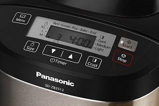 Der Panasonic Brotbackautomat SD-ZB2512 mit Display im Test
