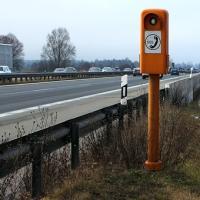 SOS-Säule an der Autobahn