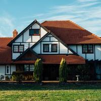 Vorderansicht eines Hauses