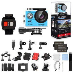 Zubehör AKASO 4K Helmkamera zum Reiten im Test