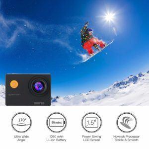 APEMAN Action Cam 1080P Full HD Helmkamera Befestigung im Test