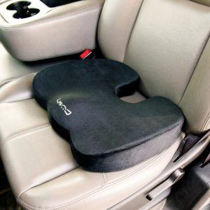 What types of seat cushions are there in a test?
