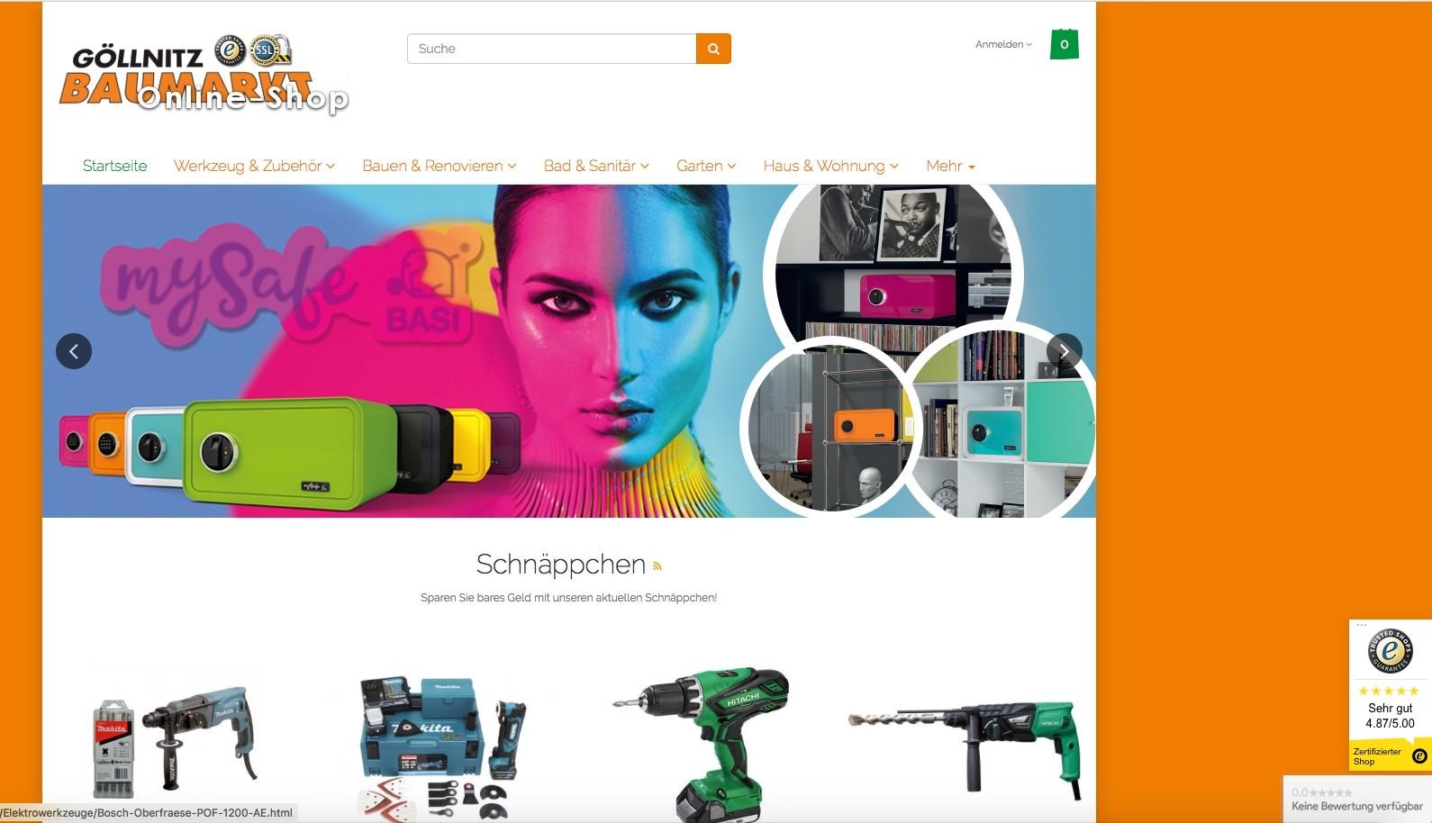 Baumarkt Göllnitz ist in der Top-50-Shops Liste von ExpertenTesten.de.