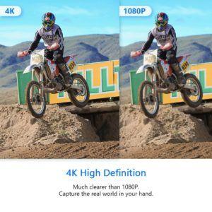 "Crosstour Action Cam 4K WiFi Sports Kamera Helmkamera 30M Wasserdicht Unterwasserkamera Ultra HD 2"" LCD 170° Weitwinkelobjektiv Test"