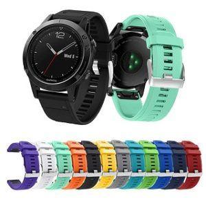 Farbvariationen der Armbänder von Garmin Fenix 5 Laufuhr im Test
