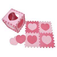 Rosa Happykiddoos Puzzlespielmatte 10 Foam Matte Spielmatte mit Herzen aus Schaumstoff im Test