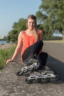 Die RX-23 Damen Inline-Skates werden getestet