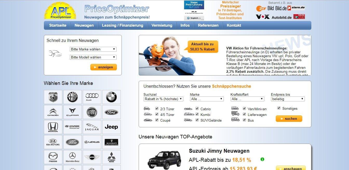 APL ist ein Neuwagen-Portal