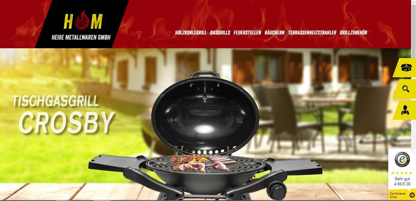 Der Onlineshop von Activa Mastercook bietet alles für den Grillbedarf an