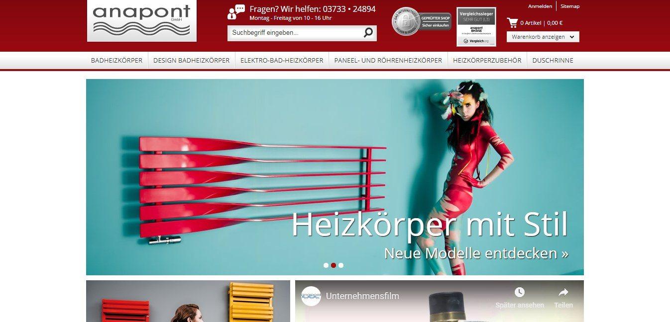 Anapont ist ein Onlineshop rund um Produkte für das Badezimmer