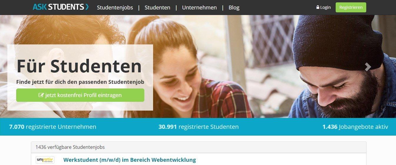 Askstudents.de - Die Jobbörse speziell für Studenten