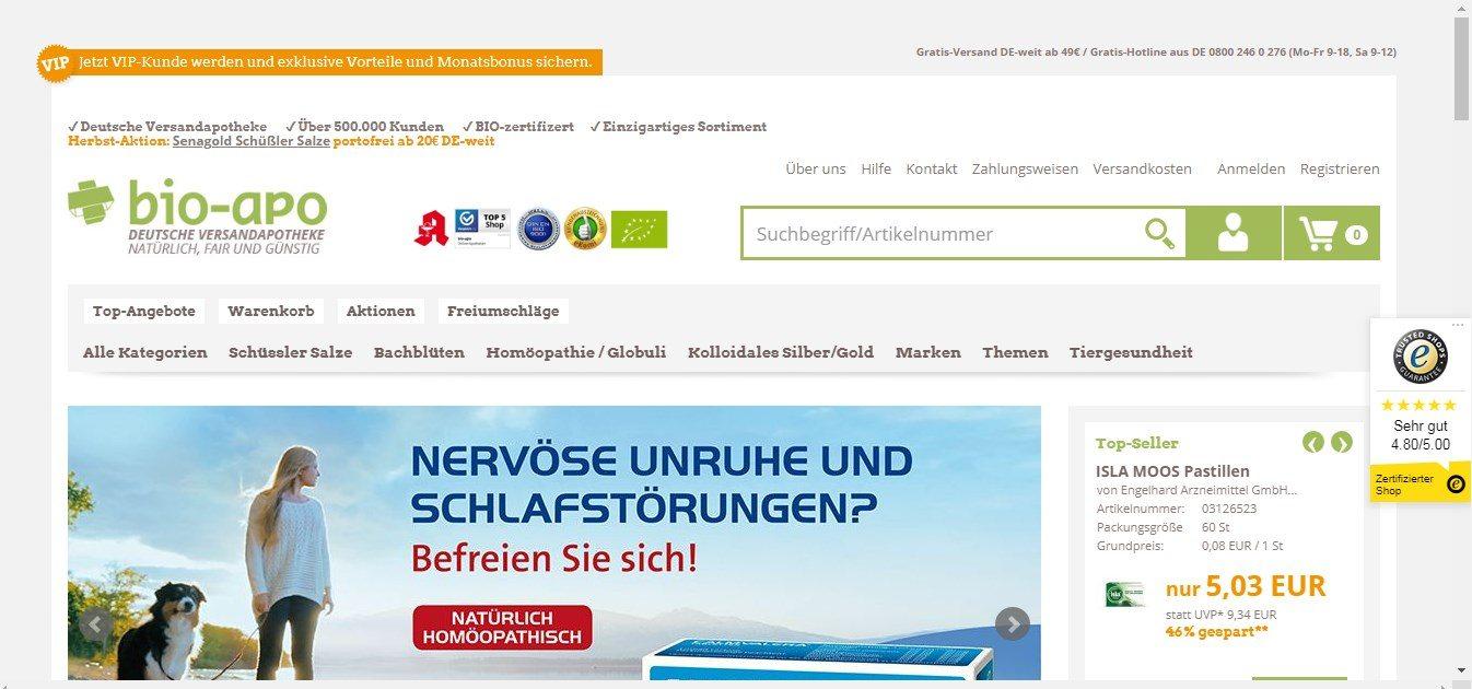 Bio-Apo - Die deutsche Versand-Apotheke
