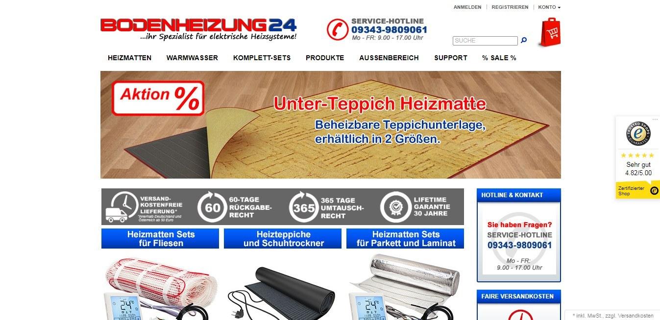 Bodenheizung24 ist der Spezialist für elektrische Heizsysteme