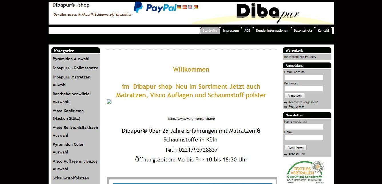 Dibapur - Online-Shop fürDer Matratzen & Akustik Schaumstoff