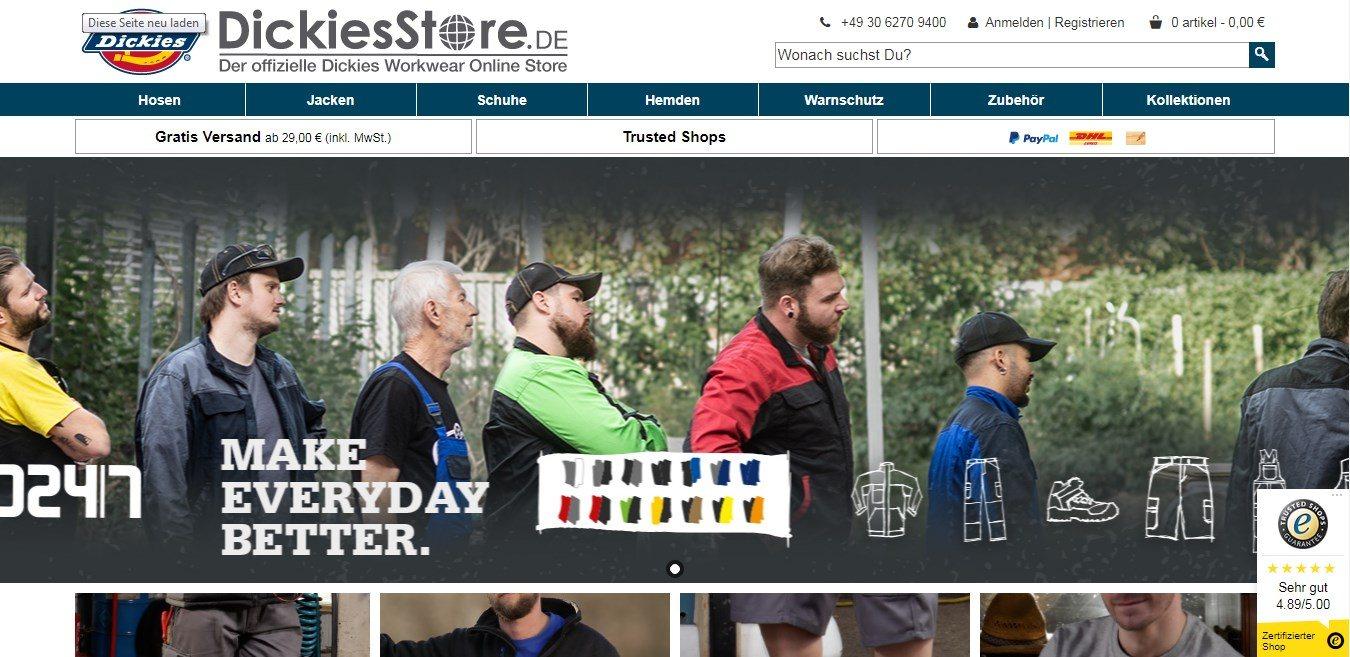 Dickiesstore - Der Onlineshop für Arbeits- und Berufskleidung