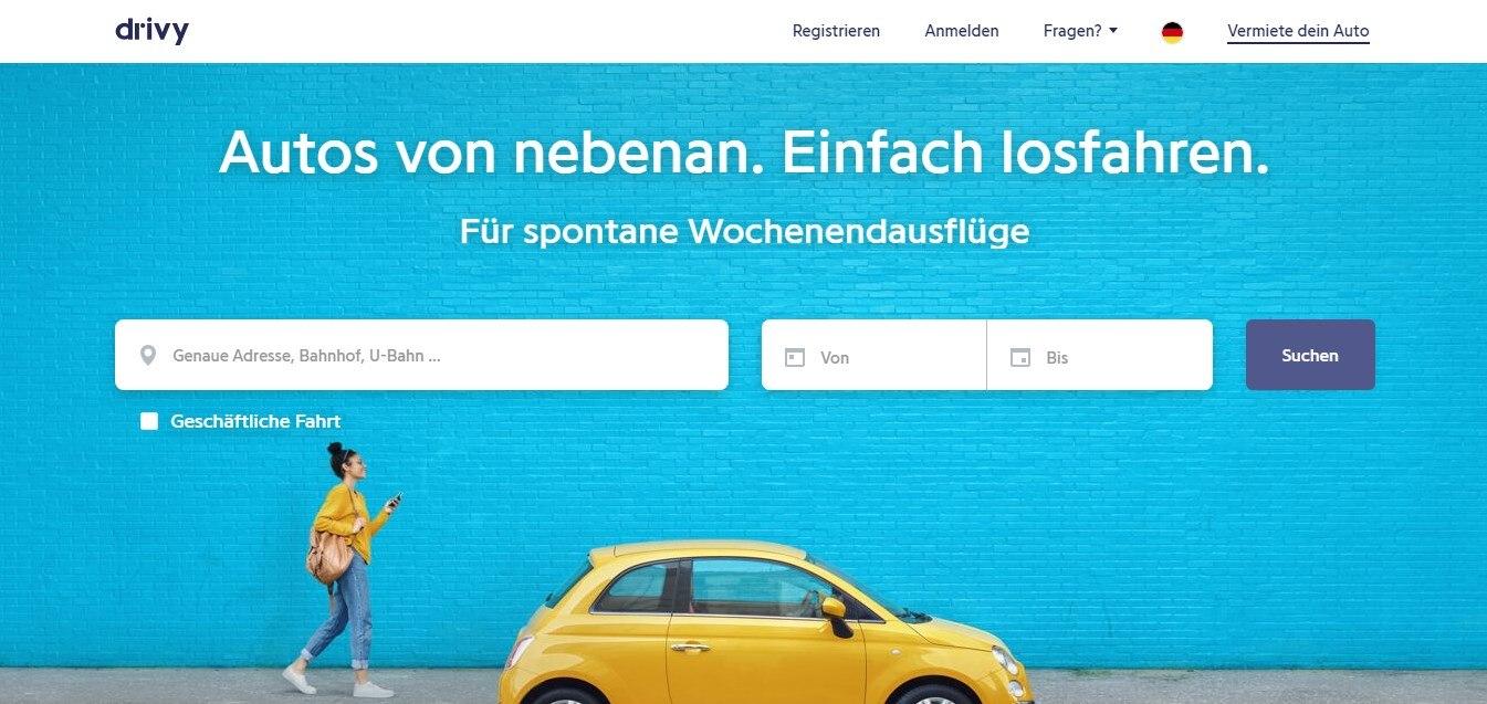 Drivy.de ist eine Carsharing-Plattform