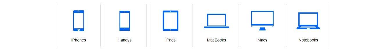 Die Hauptkategorien vereinfachen die Bedienung von Flip4new.de