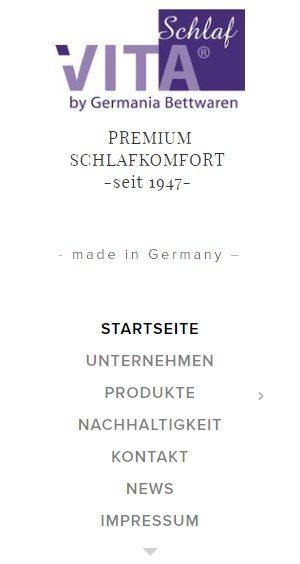Germania-Bettwaren ist ein Hersteller von u.a. Daunendecken und -kissen
