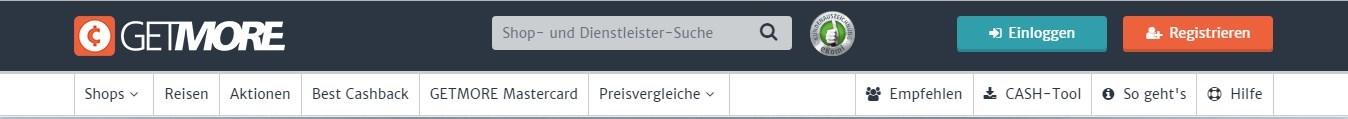 Die Kategorien sorgen für ein einfaches Navigieren auf Getmore.de