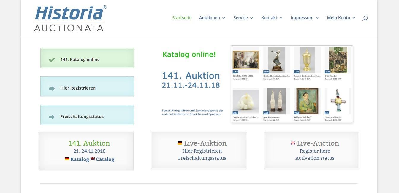 Das Online-Auktionshaus Historia.de