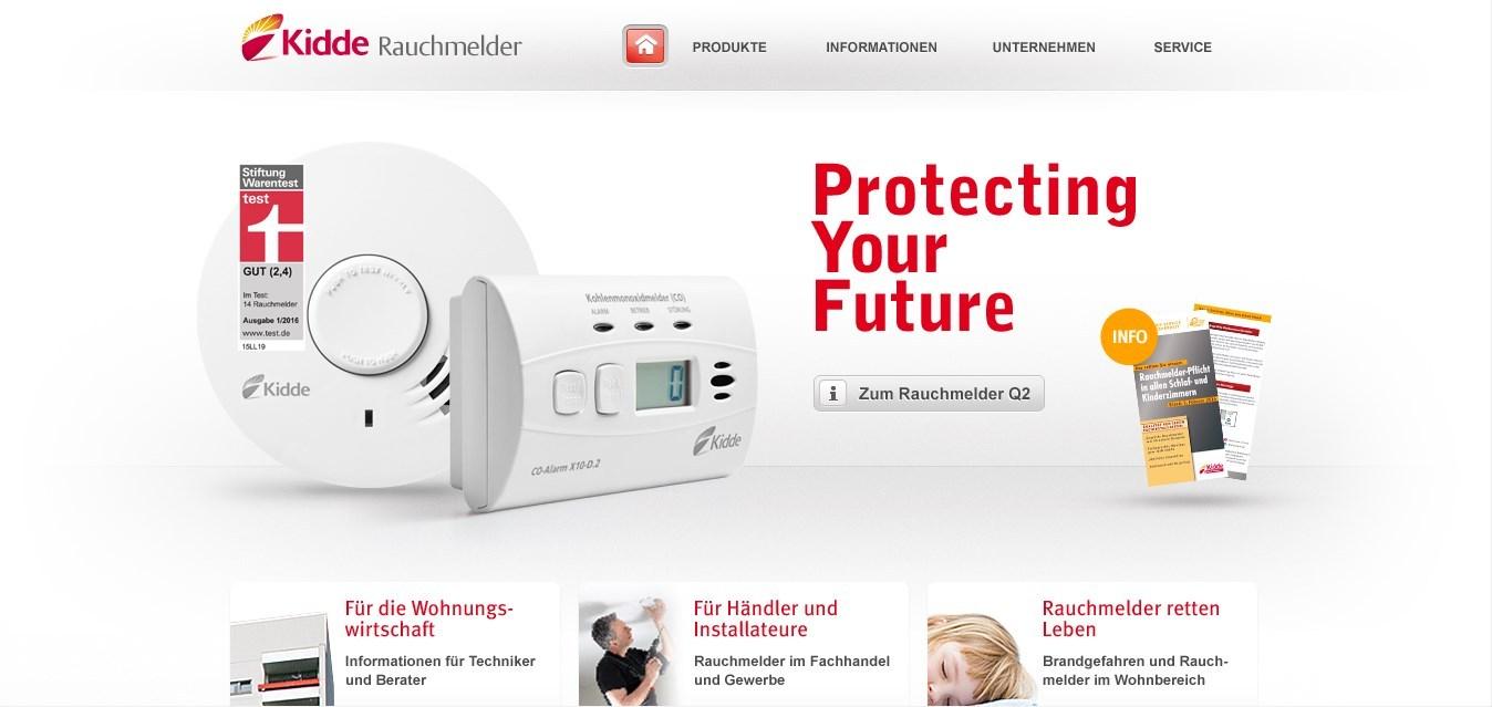 Kidde-Rauchmelder.de ist ein Online-Shop für Unternehmen