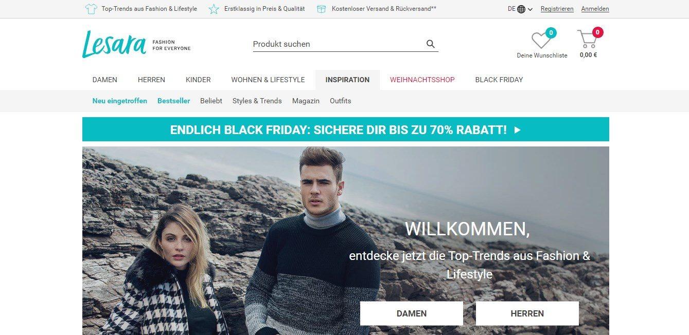 Lesara - Onlineshop Mode für Jedermann