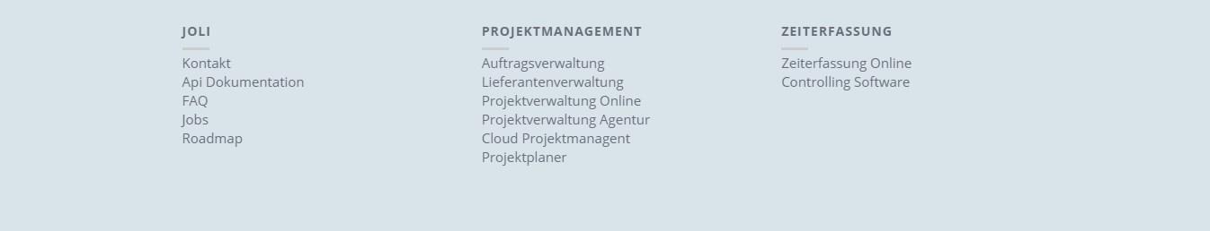 Unterkategorien auf Myjoli.de zeigen den Umfang der Dienstleistungen