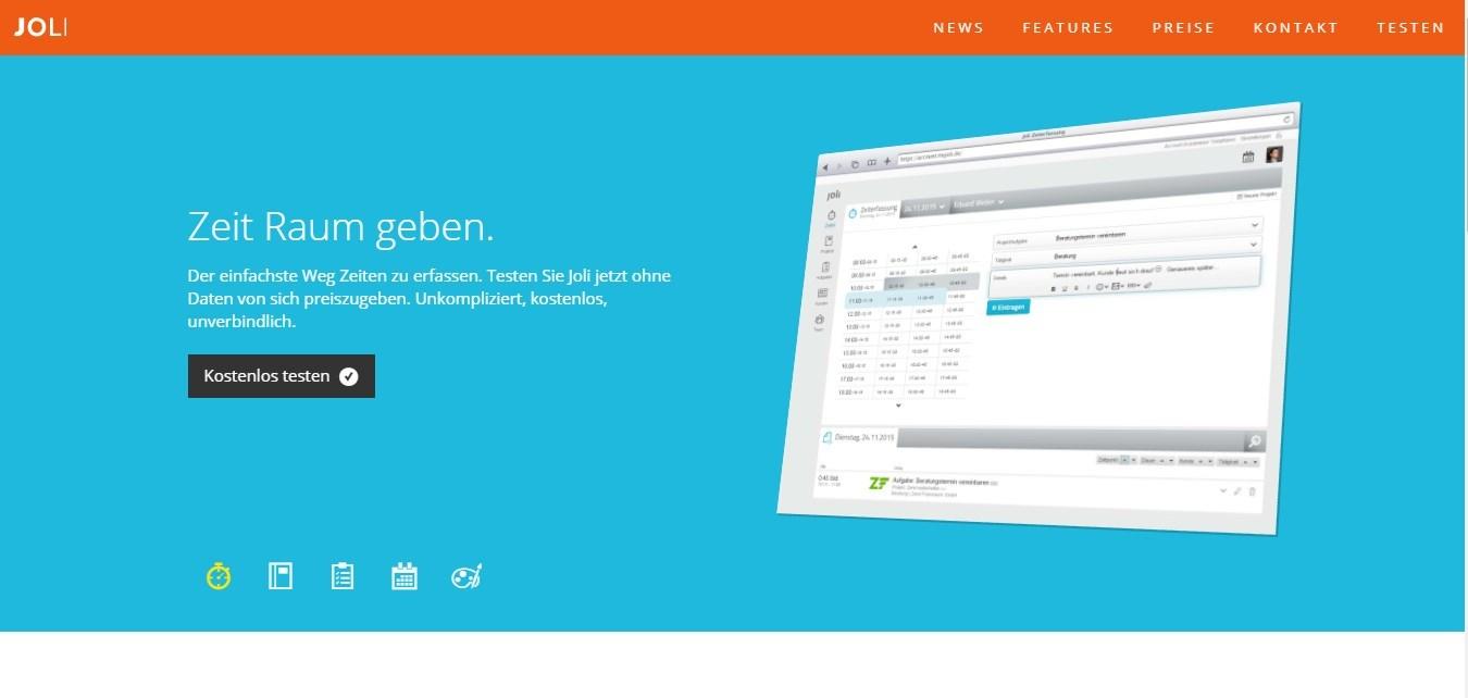 My Joli bietet Projektmanagement und Zeiterfassung online
