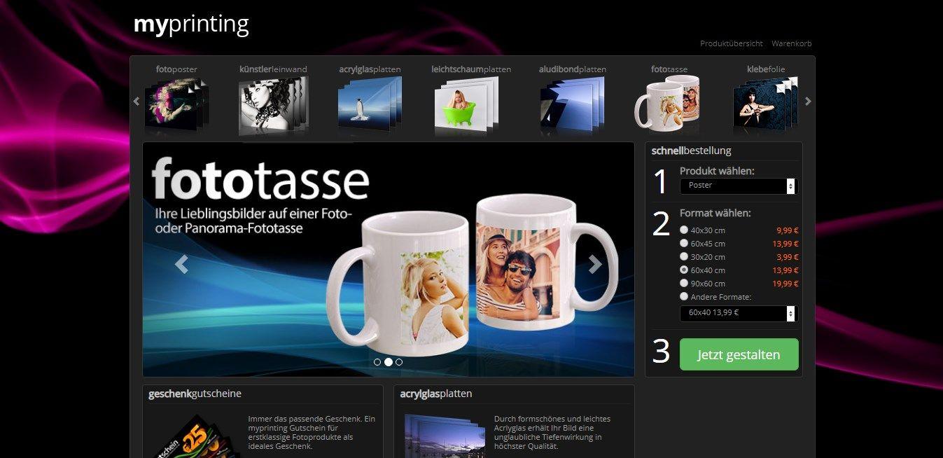 Myprinting.de ist eine deutsche Online-Druckerei