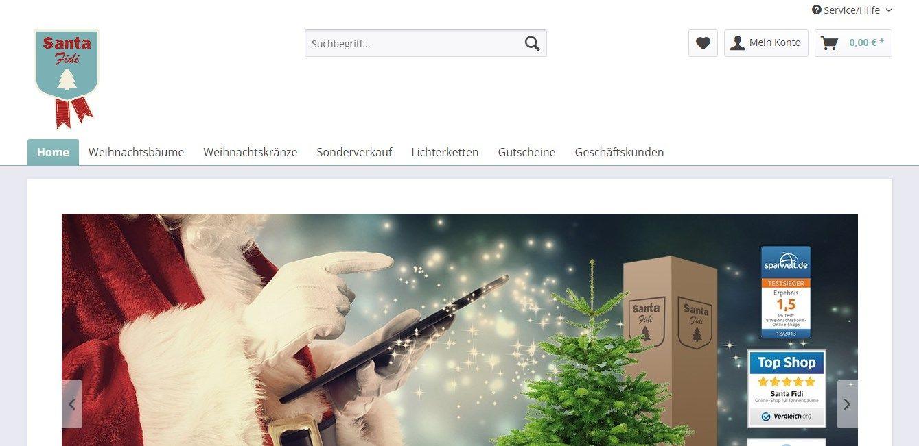 Santa Fidi - Online-Shop für Weihnachtsbäume